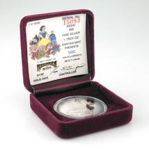 Rarities Ungebraucht Walt Disney 1 Oz. Silber Rund W / Etui Und COA Doc - $68.60