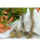 Vintage Dice Charm Bracelet Caged Gambler Gambl... - $49.95