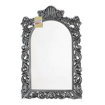 "Grand Silver Wall Mirror - Baroque Period - Wood - Bathroom Or Entry - 23"" Tall - $51.36"