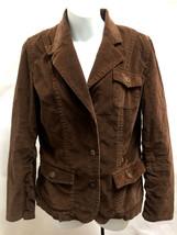 Eddie Bauer 6 Jacket Brown Corduroy Blazer Cotton Stretch - $21.55