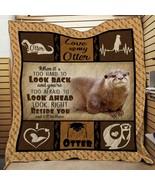 Otter Fleece Blanket, Knit Baby Blanket, Animal Sea Blanket Otter Lovers... - $46.98+