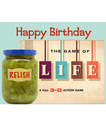 Unique Happy Birthday Card: Relish Life - $4.25