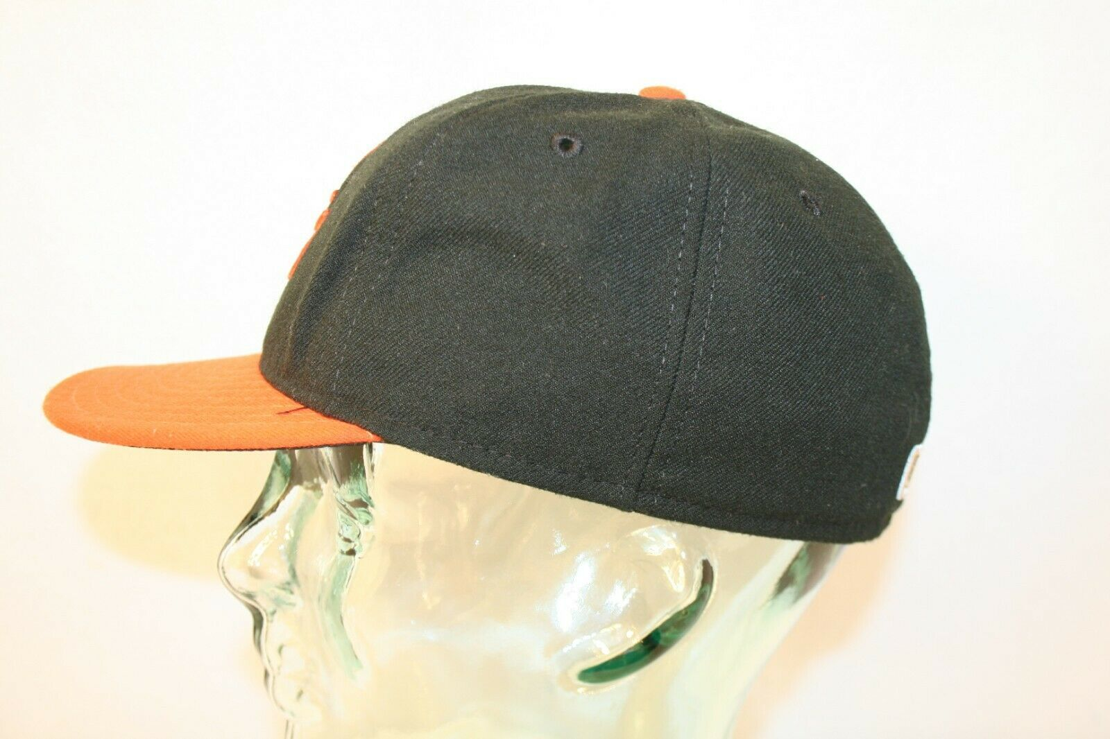 New Ear 59fifty Baltimore Orioles O's fitted 7 1/4 Black Orange bill Dad Cap Hat image 2