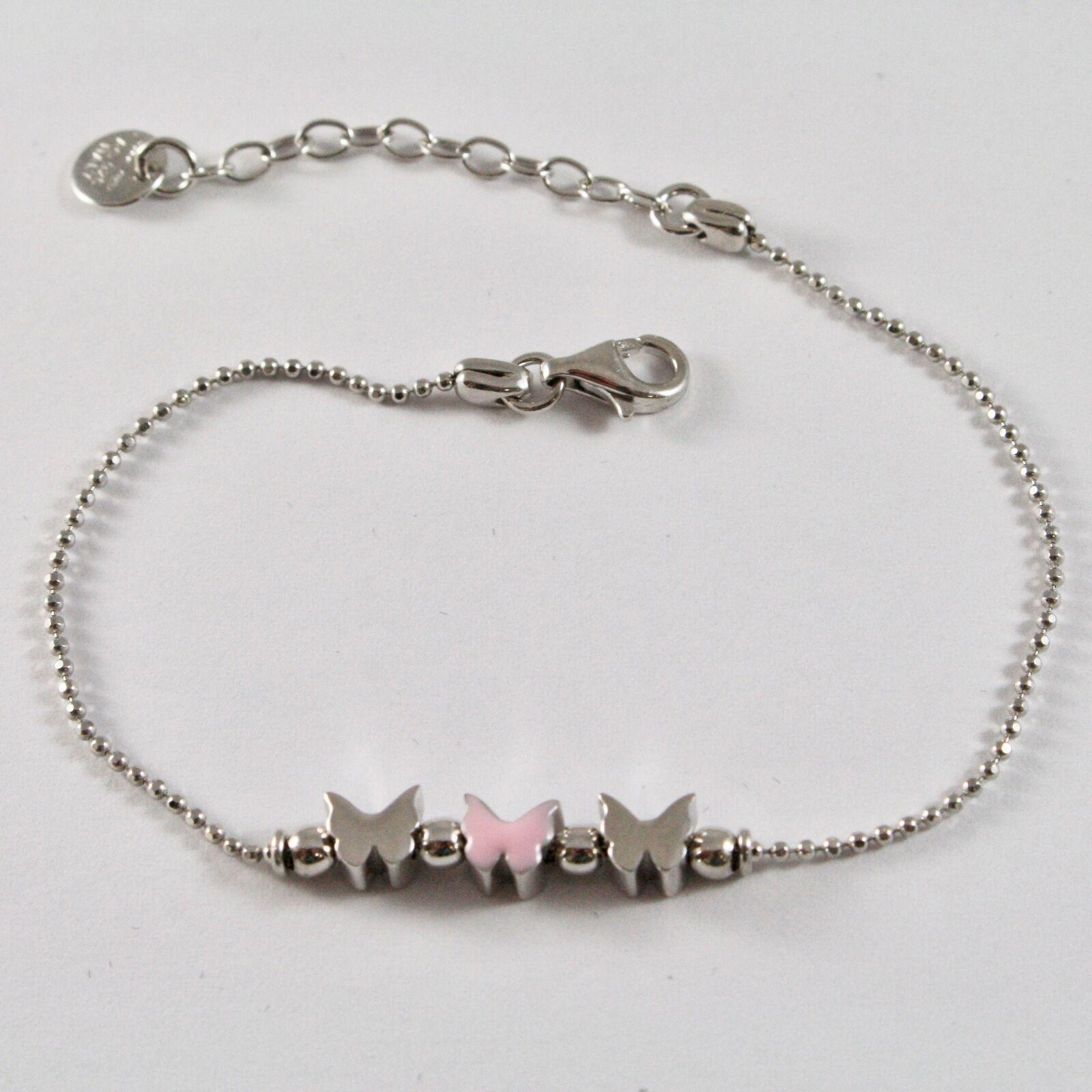 Silver Bracelet 925 Jack&co Butterflies Stylized Balls Faceted JCB0902