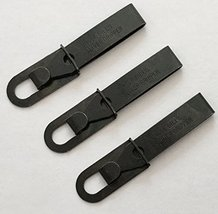3 Pack Black Oxide Uncle Bill's Sliver Gripper Precision Key Chain Tweezers image 2