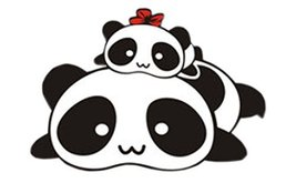Set of 2 Cute Panda Family Car Stickers Unique Design Custom Car Stickers