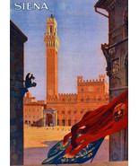 """20x30""""Poster on Canvas.Home Room Interior design.Travel Italy.Siena.6549 - $60.78"""