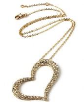 Nuevo Amrita Singh Hermoso Dorado Pl. Austria Cristales Forma Corazón Colgante