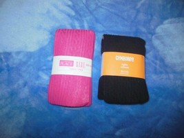2 Girls NWT Sweater Tights Gymboree&Childrens Place 14&12/14 Black and Pink - $9.99