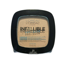 NEW L'Oreal Infallible Pro Glow Longwear Pressed Powder ~ # 21 Classic Ivory - $6.76