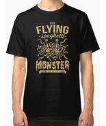 The flying spaghetti monster  dark  new t shirt men s black thumbtall