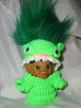 "Vintage Tab MONSTER TROLL 3"" doll ooak New Green Hair Monster Costume Pa... - $35.63"