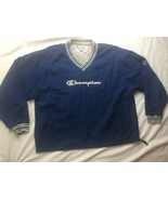 Vtg Champion Spell Out Pullover Windbreaker Jacket Mens Size XL - $28.04