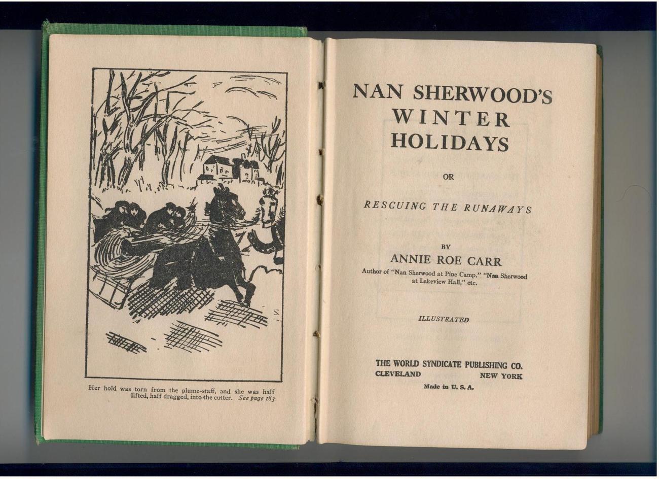 NAN SHERWOOD'S WINTER HOLIDAYS - vintage girls' series