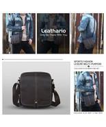 Leathario Bag Man Shoulder Leather Vera Moda Business Marrón - 692 - $228.61
