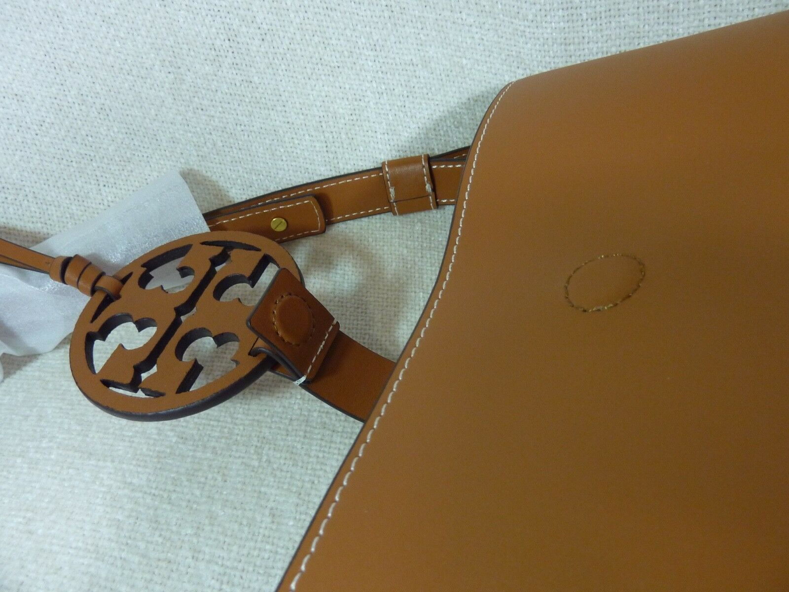 NWT Tory Burch Aged Camello Miller Hobo/Shoulder Tote $458 - Minor Imperfection image 10
