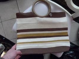 Tan and brown woven Tote from The Sak - $9.99