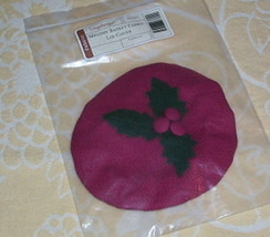 Longaberger Melody Tree Trimming Lid Cover Paprika Red New Christmas 2003 - $10.84