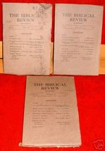 3 Biblical Review 1918 Religion Bible Church Christian - $15.00