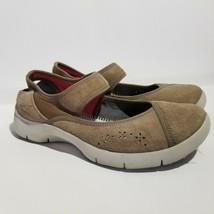 Dansko Womens Emmy Shoes Size 40 US 9.5 10 Mary Jane Suede Slip On Beige Walking - $29.02
