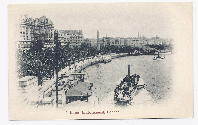 Primary image for c1910 - Thames Embankment, London, England - Unused