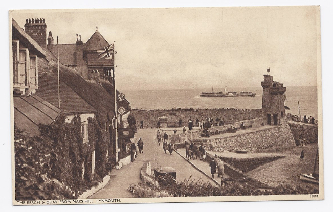 Primary image for c1942 - The Beach & Quay, Lynmouth, England - Unused