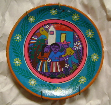 Mexican Plate with Hanger, 7 1/4""