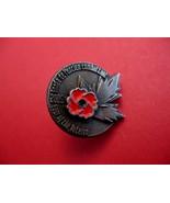 Year Of The Veterans Day Enamel Red Poppy Souvenir Lapel Pin - $6.99