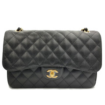 Chanel Black Quilted Caviar Jumbo Classic Double Flap Bag A58600 - $7,299.00