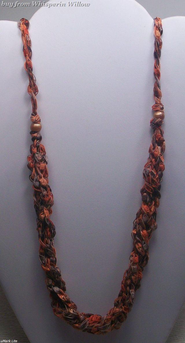 Crocheted trellis necklaces 17