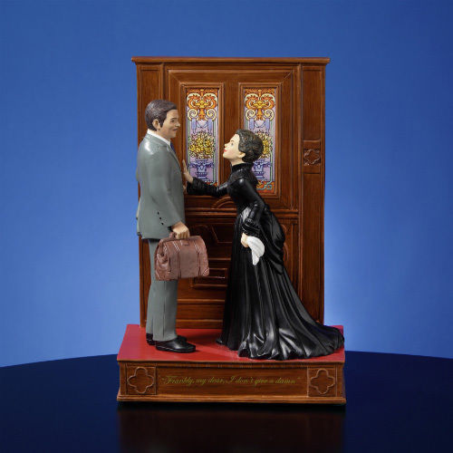 "SF Music Box Gone With The Wind - ""Frankly My Dear"" Figurine"