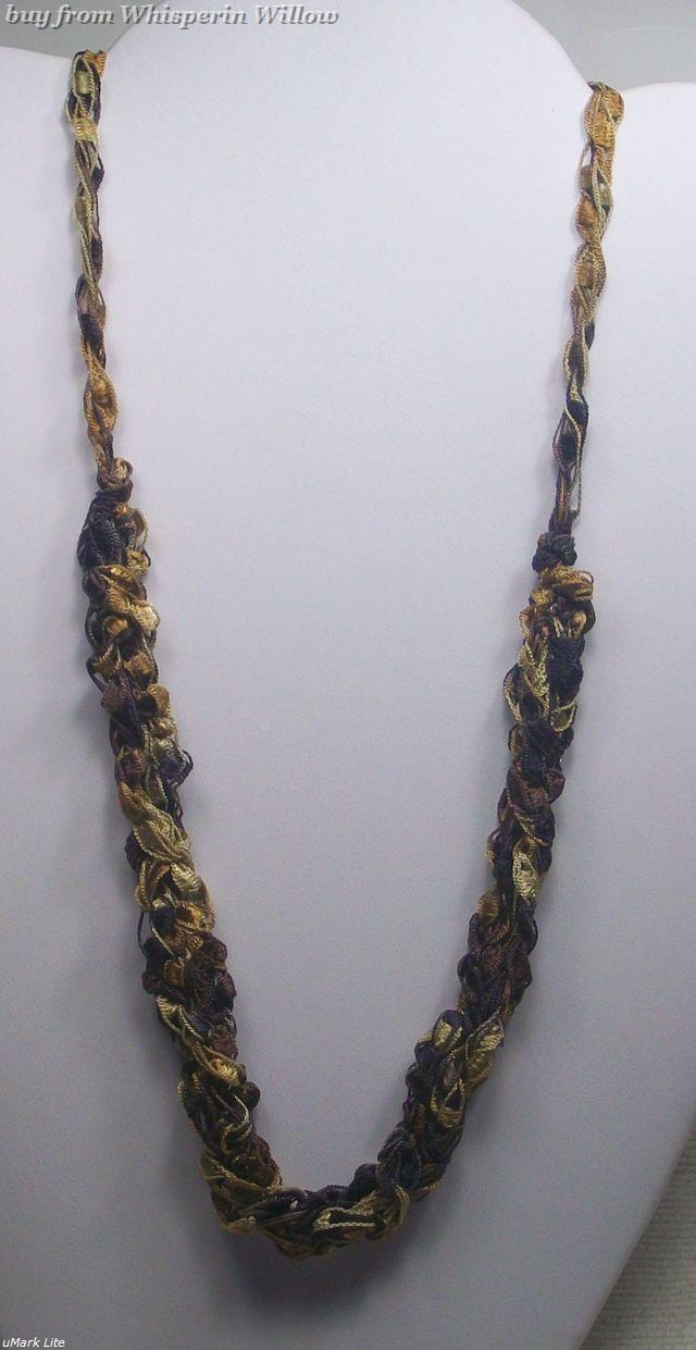 Crocheted trellis necklaces 18