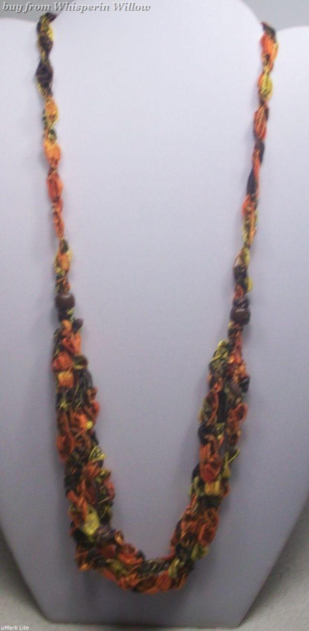 Crocheted trellis necklaces 19