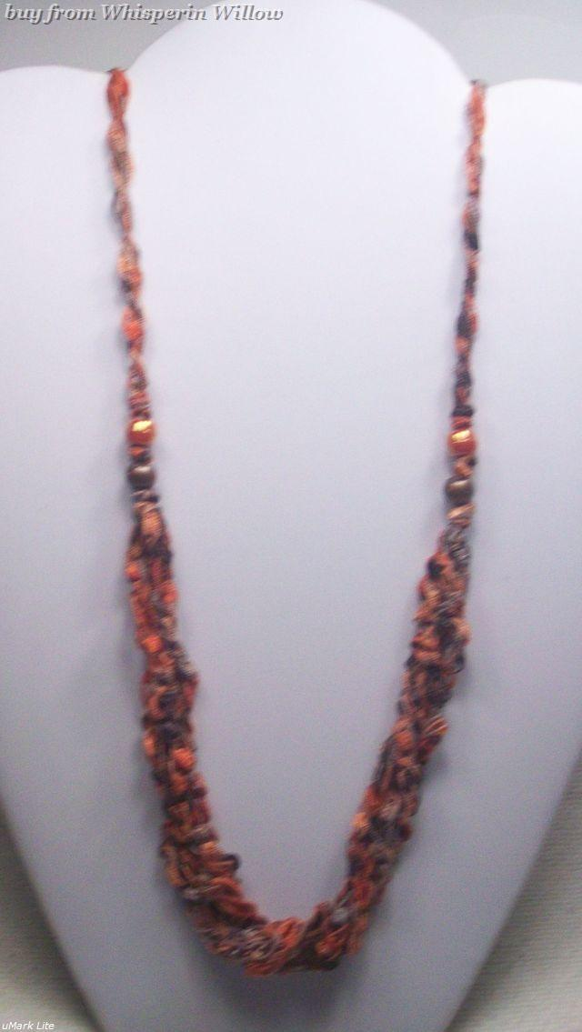 Crocheted trellis necklaces 20