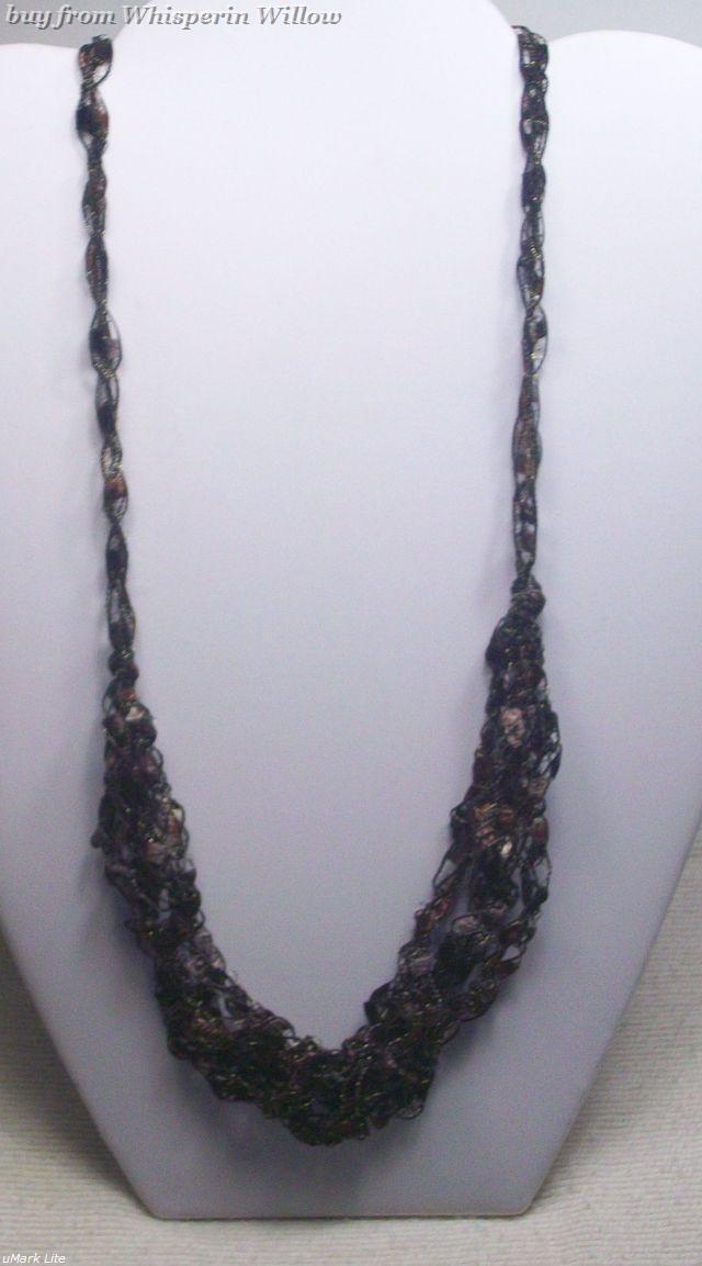 Crocheted trellis necklaces 21