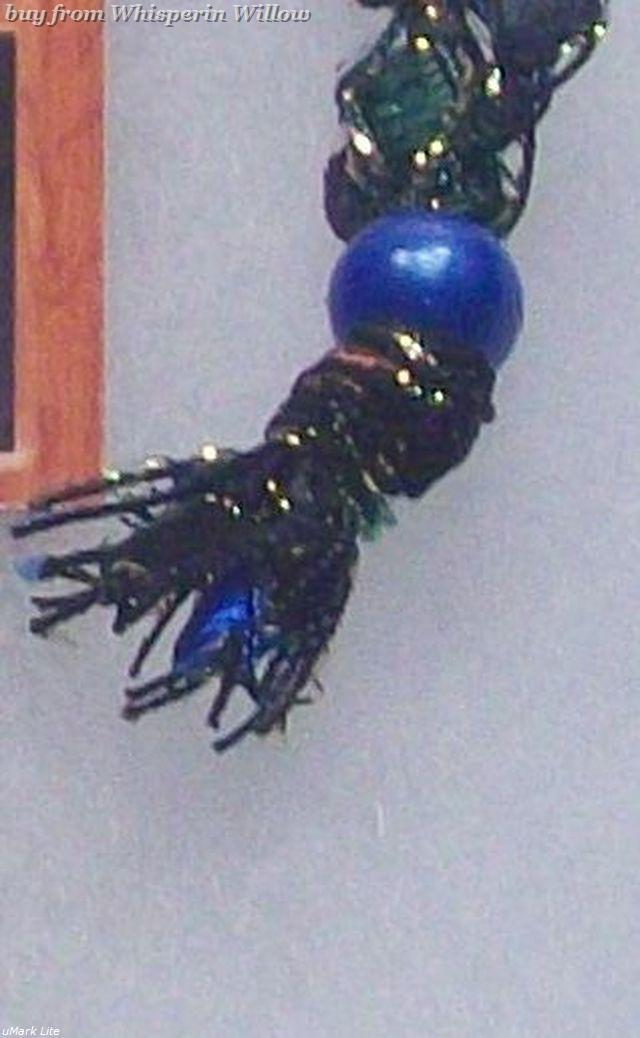 Crocheted Trellis Ladder Ribbon Necklace 23