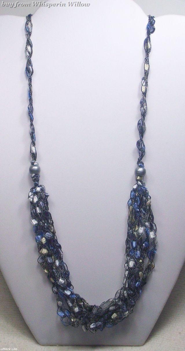 Crocheted trellis necklaces 25