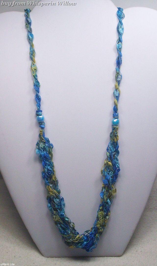 Crocheted trellis necklaces 26