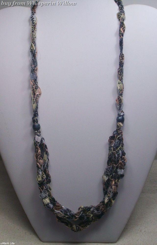 Crocheted trellis necklaces 27