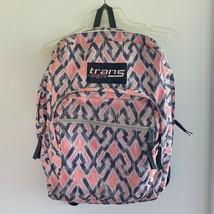 "Trans by JanSport Geometric Print Zipper Backpack Book Bag 17"" Adjustabl... - $16.82"