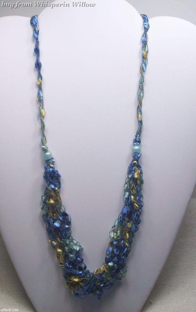 Crocheted trellis necklaces 28