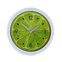 Koala Superstore Round Lemon Design Desktop Silent Alarm Clock Home Decor, Green - $16.60