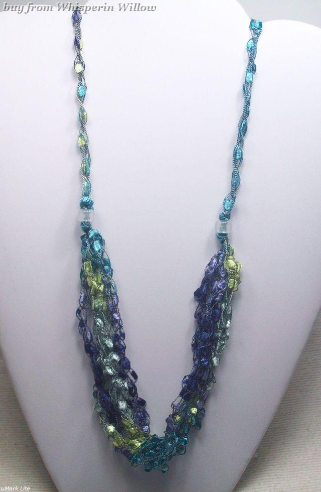 Crocheted trellis necklaces 29