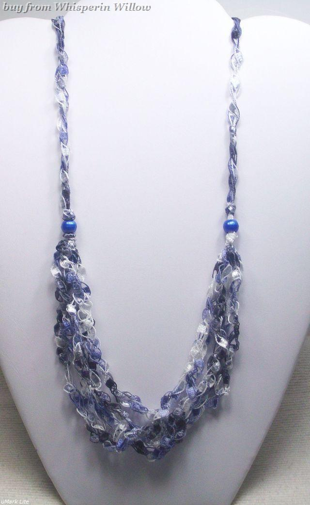 Crocheted trellis necklaces 30