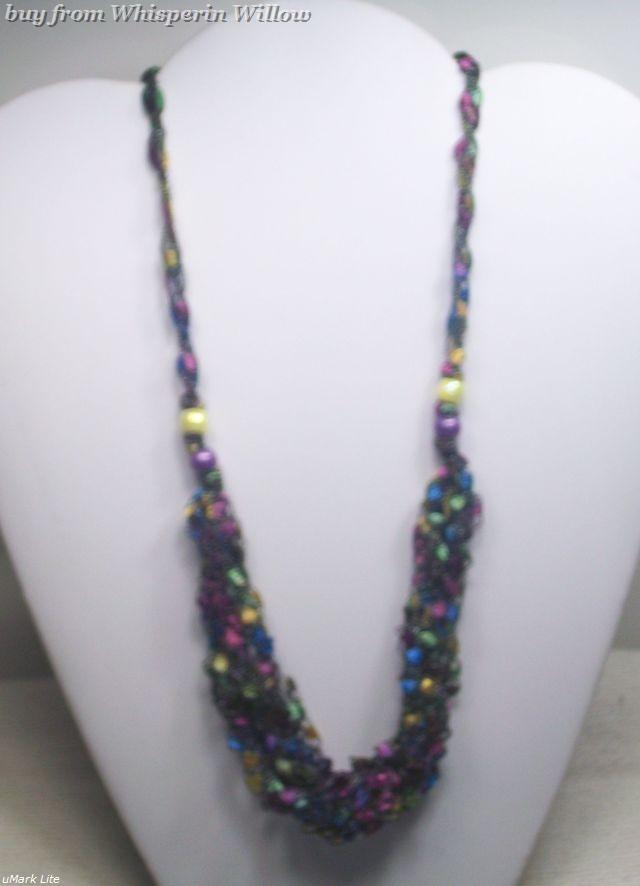 Crocheted trellis necklaces 32
