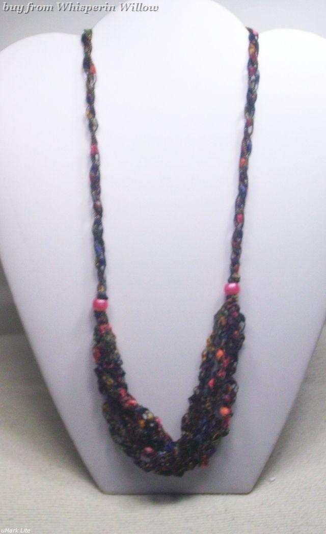 Crocheted trellis necklaces 33