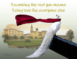 Unique Blank Inspirational Card: Becoming More Like You - $5.00