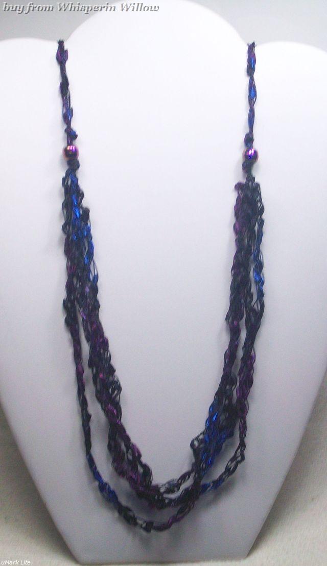 Crocheted trellis necklaces 34