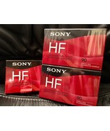 Sony HF 90 Minute Blank Audio Cassette Tapes C90HFR NEW SEALED 3 Pack - $8.59