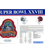 Super Bowl 28 Patch and Game Details Card - $19.75